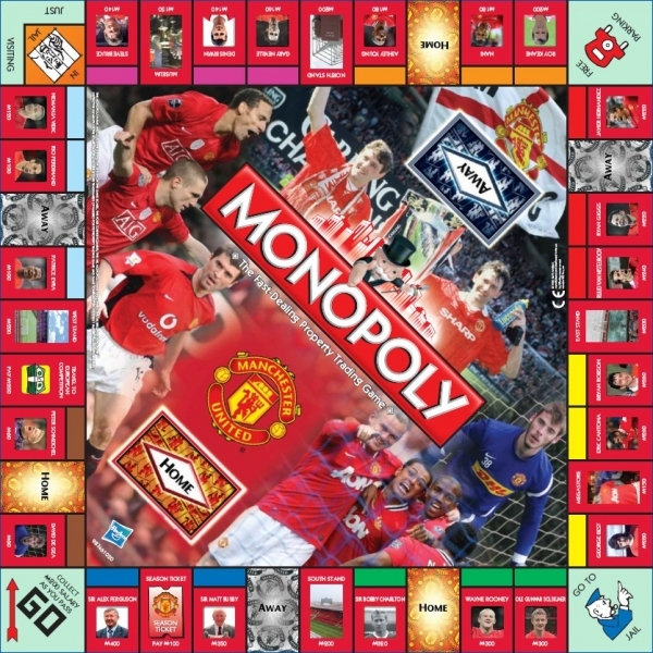 Monopoly Manchester United Football Club Spare Board