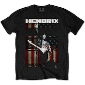 Jimi Hendrix - Peace Flag Men's Medium T-Shirt - Black