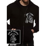 Sons Of Anarchy Samcro Zip Front Hoodie X-Large