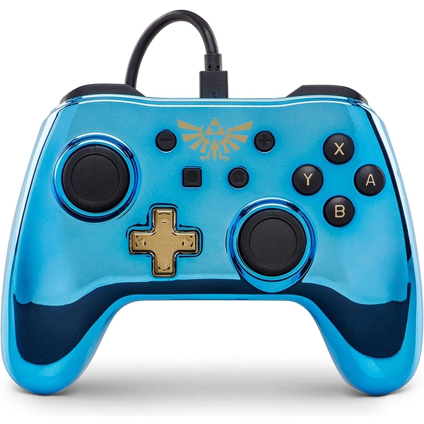 Chrome Blue Zelda PowerA Wired Controller for Nintendo Switch [Damaged Packaging]