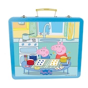Peppa Pig Art Tin Case with 60pc Creative Accessories Kit