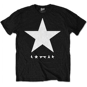 David Bowie Blackstar White Star on Black Men's Medium T-Shirt -  White Star on Black