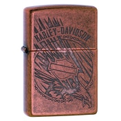 Zippo Harley Davidson Eagle in Action Copper Windproof Lighter