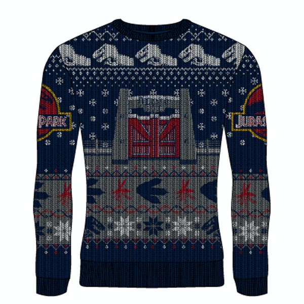 Image of Jurassic Park - Gates Unisex Small Knitted Jumper - Multi-Colour