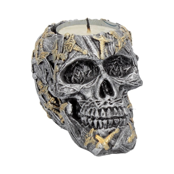 Cranial Blade (Set of 4) Skull Tealight Holder