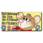 Retirement...No Job...No Stress...No Money Smiley Magnet Pack Of 12