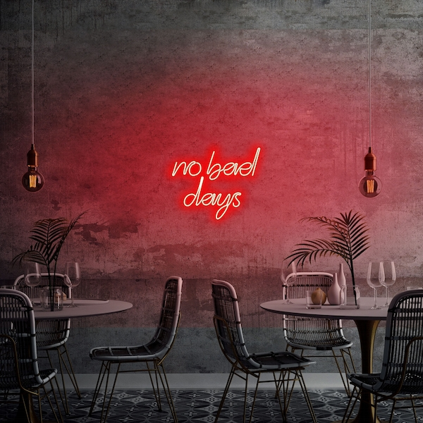 No Bad Days - Red Red Wall Lamp