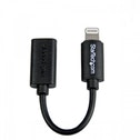 StarTech.com Zwarte micro USB-naar-Apple 8-polige Lightning-connectoradapter voor iPhone-iPod-iPad