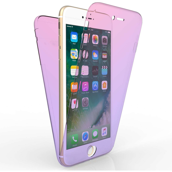 Compare prices with Phone Retailers Comaprison to buy a Apple iPhone 7 Plus Full Body 360 TPU Gel Case - Pink / Purple