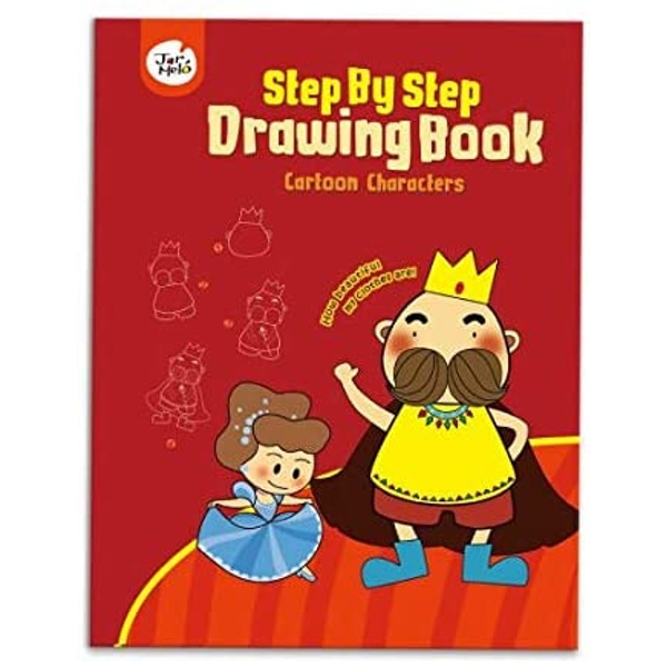 Cartoon Characters Step By Step Drawing Book