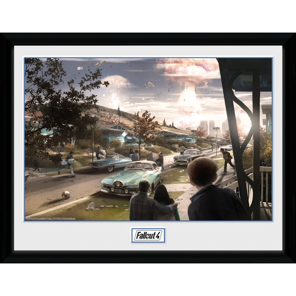 Fallout 4 Sanctuary Hills Panic Collector Print