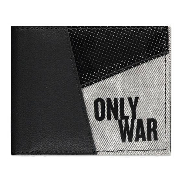 Warhammer - 40K Only War Phrase Male Bi-fold Wallet - Black/Grey