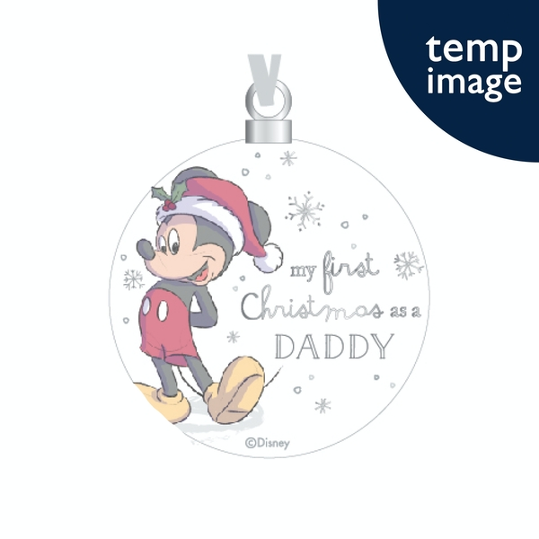 Mickey Ceramic Bauble - Daddy