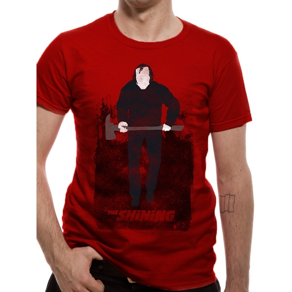 The Shining - Unisex Medium Johnny T-Shirt (Red)