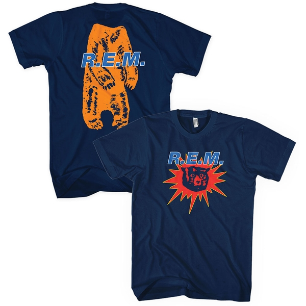 R.E.M. - Bear Burst Unisex Medium T-Shirt - Blue