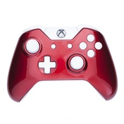 Crimson Red & White Xbox One Controller