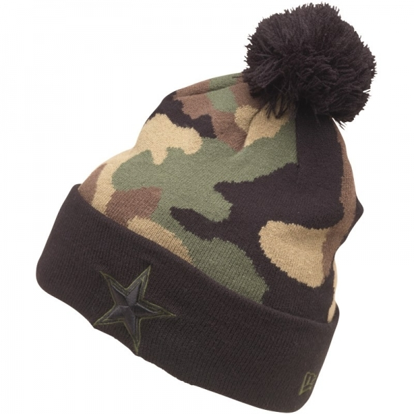 850d5cda3 New Era NFL Dallas Cowboys Knitted Bobble Hat Woodland Camo