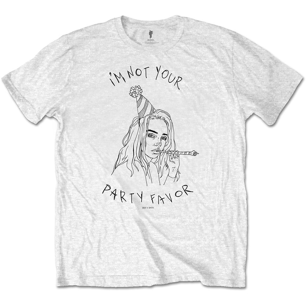 Billie Eilish - Party Favor Unisex Medium T-Shirt - White