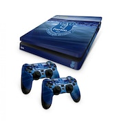 Official Everton FC PS4 Slim Console Skin and 2x Controller Skin Combo Pack