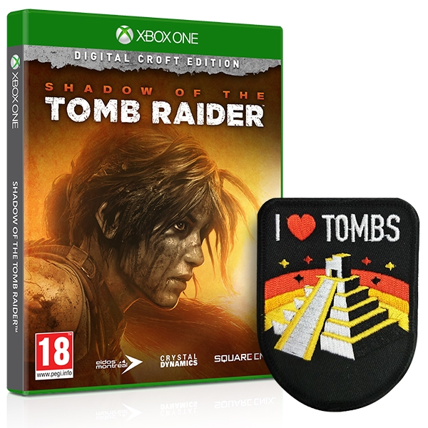 Shadow Of The Tomb Raider Croft Edition Xbox One Game + I Love Tombs Patch