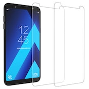 CASEFLEX SAMSUNG GALAXY A6 PLUS (2018) TEMPERED GLASS (TWIN PACK) - CLEAR