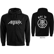Anthrax - Not Man NYC Men's Small Zipped Hoodie - Black