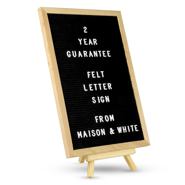 Felt Letter Board Message Sign | M&W 12x18in New