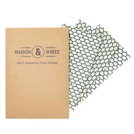 Set of 3 Reusable Beeswax Food Wraps | M&W