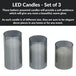 LED Candles - Set of 3 | M&W Grey - Image 5