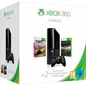(Damaged Packaging) 250GB Slim Console in Black + Halo 4 GOTY + Forza Horizon Xbox 360