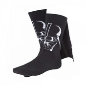 Star Wars Adult Male Darth Vader 3D Cape Crew Socks, 43/46, Black