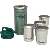 Stanley Adventure Stainless Steel Shot Glass Set - Steel/Green, 59 ml