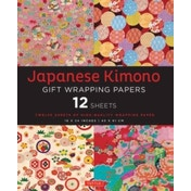 Japanese Kimono Gift Wrapping Papers : 12 Sheets of High-Quality 18 x 24 inch Wrapping Paper
