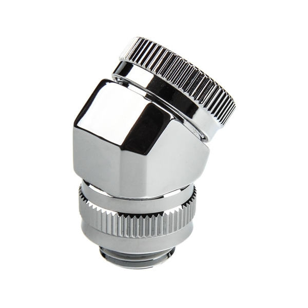 Image of Phanteks 16mm Hard Tube Rotary Fitting 45 G1/4 - Chrome