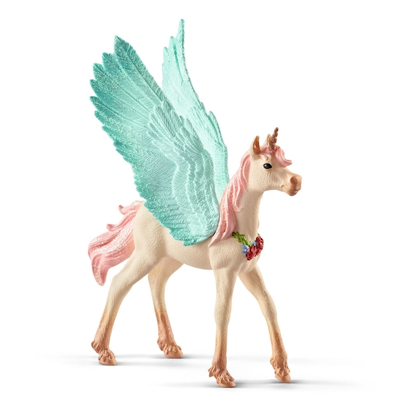 SCHLEICH Bayala Decorated Unicorn Pegasus Foal Toy Figure