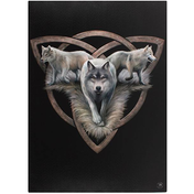 Large Wolf Trio Canvas Picture by Anne Stokes