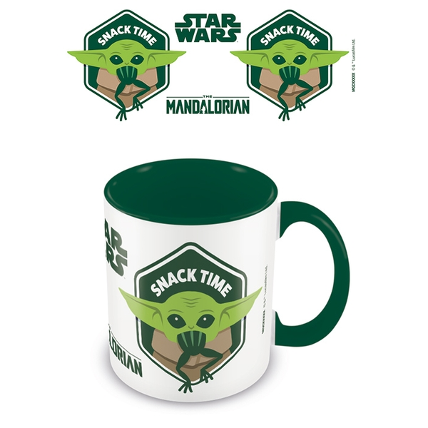 Star Wars: The Mandalorian - Snack Time Green 11oz/315ml Coloured Inner Mug