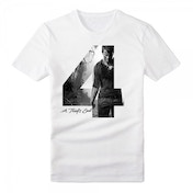 Uncharted 4 Adult Male Silhouette '4' A Thief's End Medium T-Shirt - White