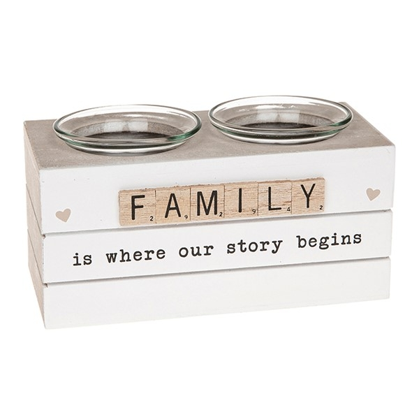 Scrabble Double Tealight Holder Family