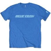 Billie Eilish - Blue Racer Logo Men's Small T-Shirt - Blue