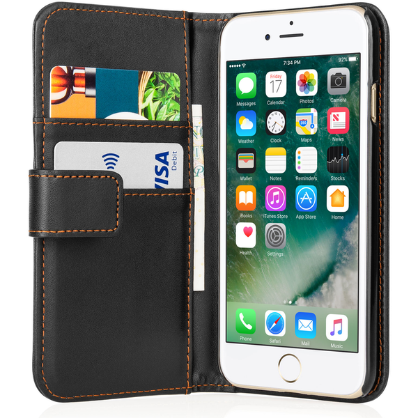 YouSave Accessories iPhone 7 PU Leather Wallet - Black