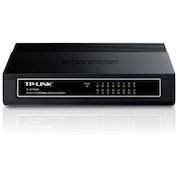 TP-LINK TL-SF1016D 16-Port Unmanaged 10/100Mbps Desktop Switch (Black)
