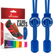 Proworks No Tie Reflective Shoe Laces - Blue