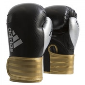 Adidas Hybrid 75 Boxing Gloves  Black/Gold  16oz