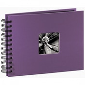 Fine Art Spiralbound Album 24x17cm 50 black pages Purple