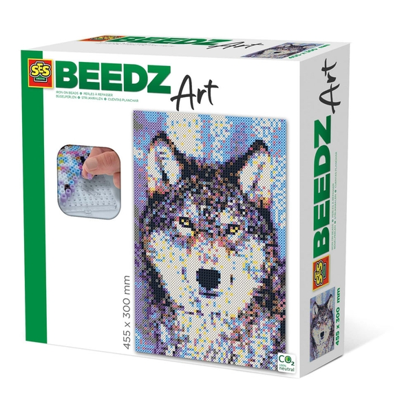 SES CREATIVE Wolf Beedz Art Mosaic Kit, 7000 Iron-on Beads