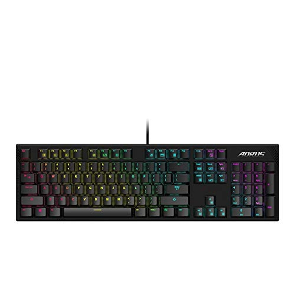 Image of Gigabyte AORUS K1 Gaming Keyboard with Cherry RED MX Mechanical Gaming Switch, UK layout, RGB fusion, Anti-Ghosting, Fully...
