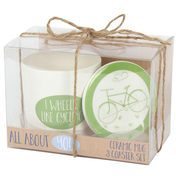I Wheelie Like Cycling Mug and Coaster Set
