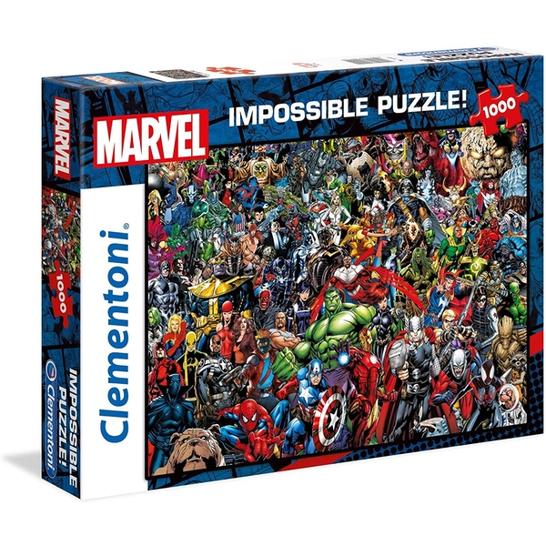 Clementoni Marvel Impossible Puzzle Jigsaw Puzzle - 1000 Pieces