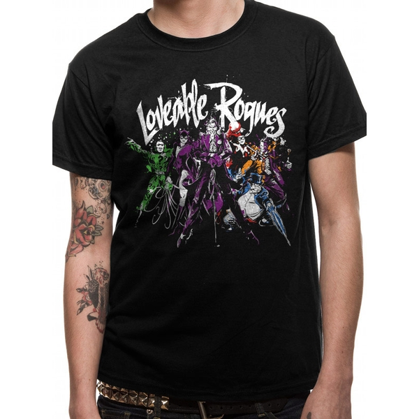 Batman - Loveable Rogues Men's X-Large T-Shirt - Black